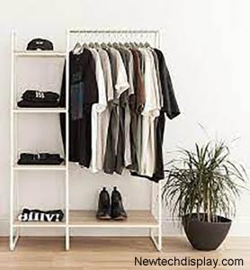 image is depicting garment racks